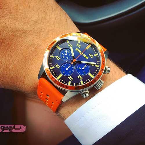 البوم عکس ساعت مردانه شیک با صفحه ابی رنگ