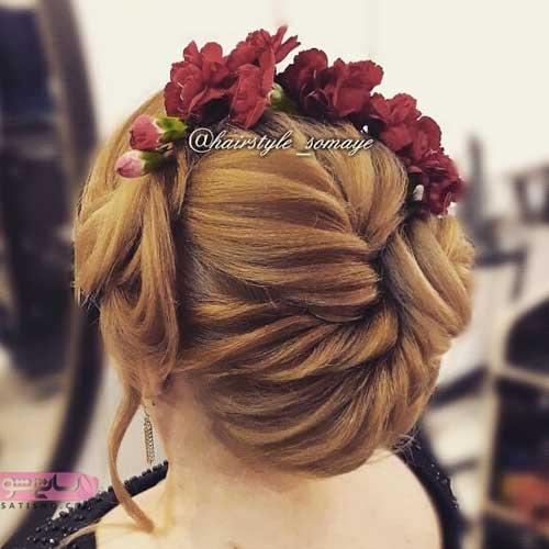 عکس مدل موی شینیون جدید دخترانه