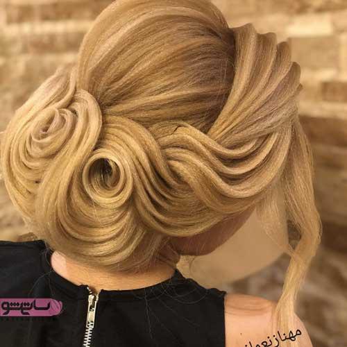 عکس شینیون مو جدید دخترانه