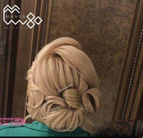 عکس شینیون موهای کوتاه جدید