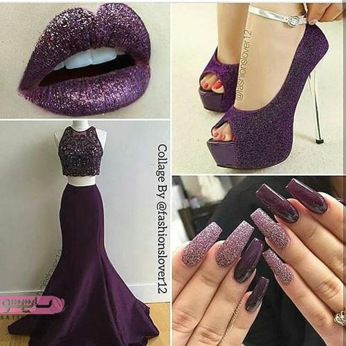 رنگ بنفش وایولت برای ست کردن لباس مجلسی با کفش