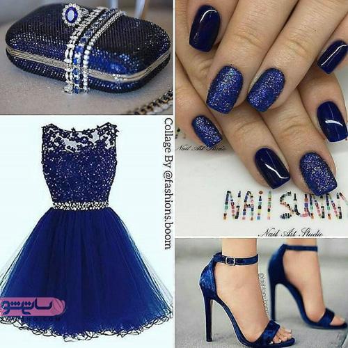 ایده های جدید و شیک برای ست کردن لباس مجلسی با رنگ آبی