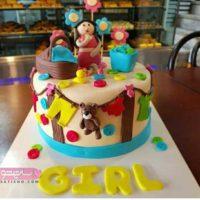 تصاویر مدل تزیین کیک ۹۸ – تزیین کیک تولد دخترانه با خلاقیت های زیبا