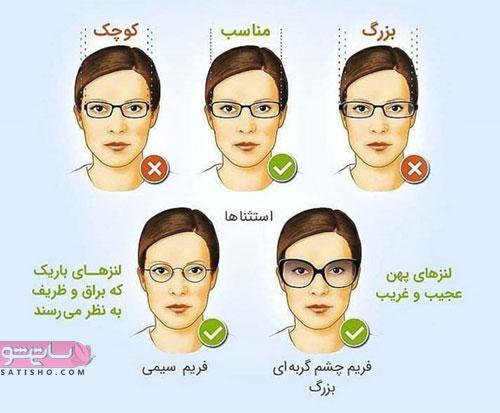 فریم عینک مناسب برای صورت