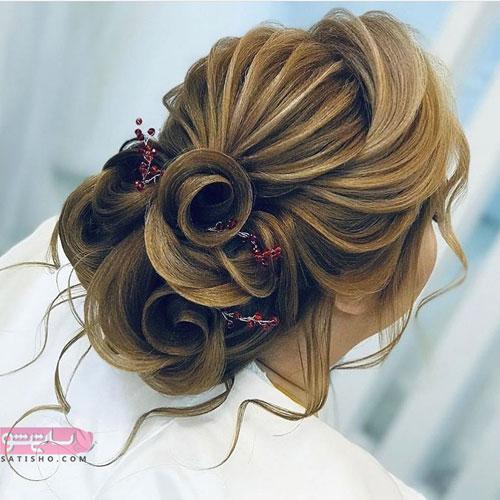 خوشگلترین شینیون و استایل موی عروس مدل عروسکی