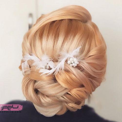 مدل موی عروس به رنگ مرجانی 2019
