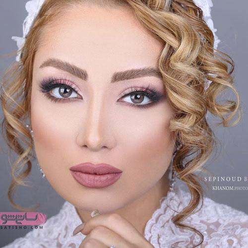 اکسسوری موی عروس همراه با میکاپ ایرانی