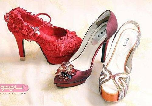 تصاویری از زیباترین کفش های عروس
