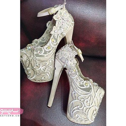 مدل شیک کفش عروس پاشنه بلند
