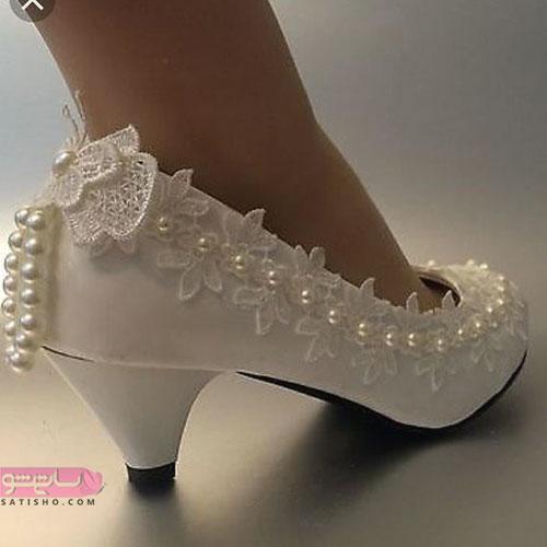 لاکچری ترین کفش عروس مرواریدی 98