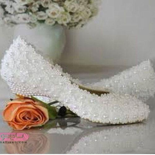 استایل زیبای عروس با کفش مجلسی راحت