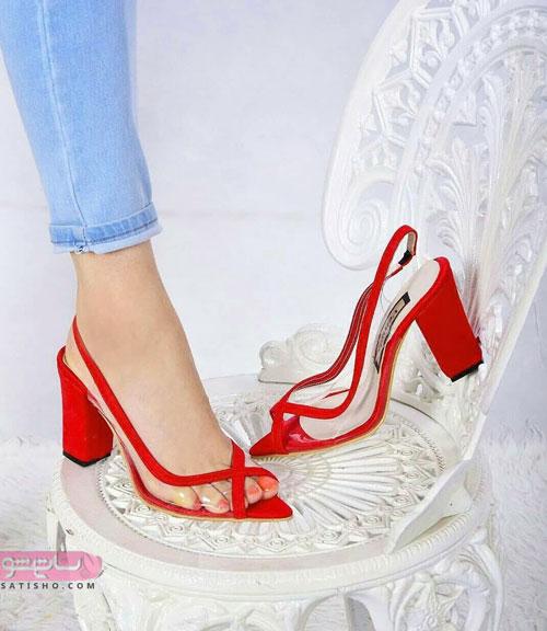مدل کفش مجلسی شیشه ای با طرح فانتزی
