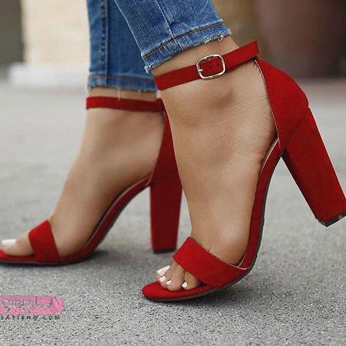 مدل کفش مجلسی دخترانه قرمز