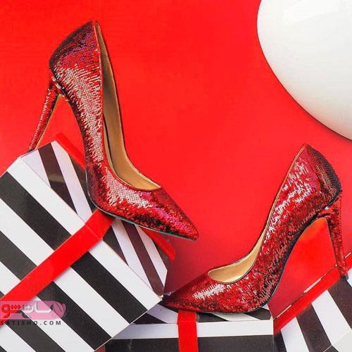 زیباترین کفش های مجلسی زنانه به رنگ قرمز