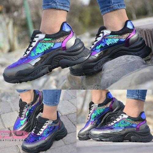 شیک ترین کفش های مشکی دخترانه هولوگرامی 2019