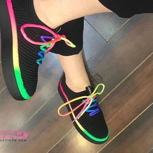 کفش اسپرت دخترانه رنگین کمان 98