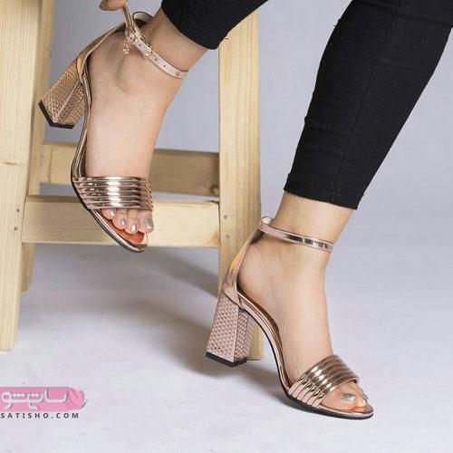 انواع مدل کفش مجلسی زنانه طلایی