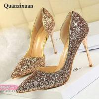 ۷۰ عکس جدید از انواع مدل کفش مجلسی زنانه طلایی ویژه سال ۲۰۱۹