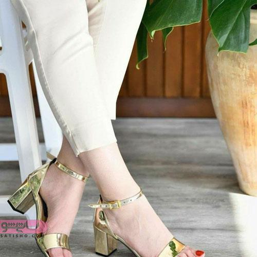 جدیدترین مدل کفش مجلسی طلایی