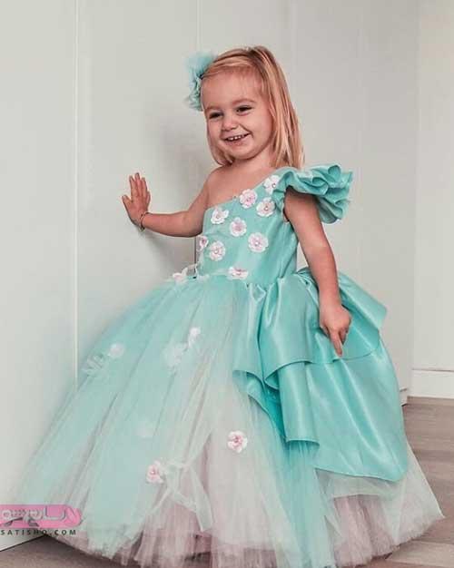 الگوی لباس پرنسسی بچه گانه
