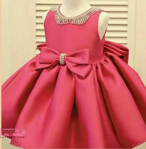 مدل لباس عروس پرنسسی بچه گانه شیک