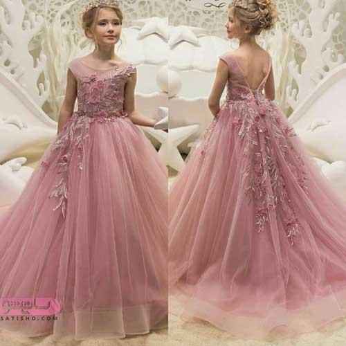 مدل لباس عروس بچه گانه پرنسسی برای دختر بچه های خوش پوش