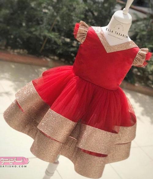 جدیدترین لباس عروس بچه گانه پرنسسی بچه گانه دختر