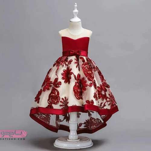 مدل لباس عروس بچه گانه بلند و پرنسسی