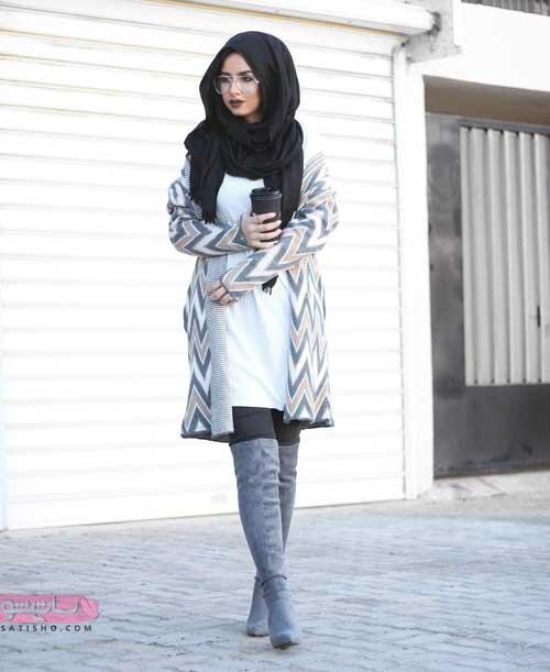 جدیدترین مدل های مانتو بلند ایرانی رنگ سال 2019