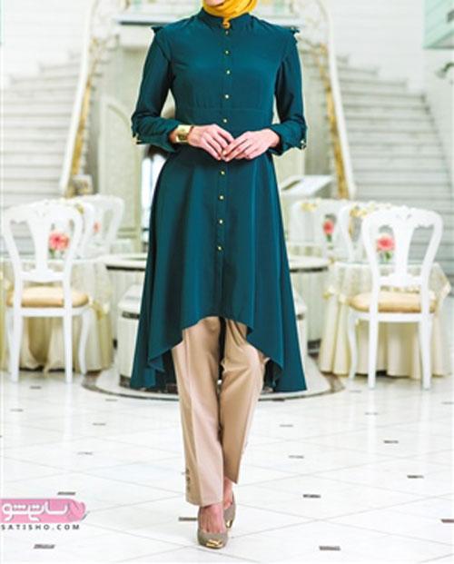 عکس مدل مانتو بلند مجلسی دخترانه