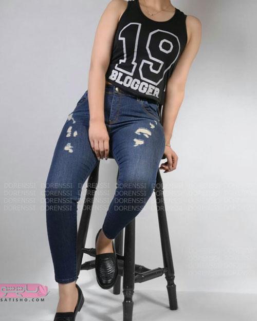 مدل های شلوار لی اسپرت دخترانه