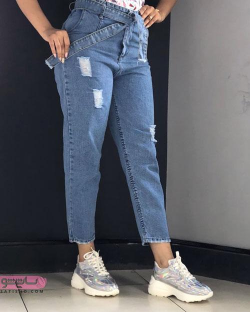 مدل شلوار جین زنانه و دخترانه با طرح های مد سال