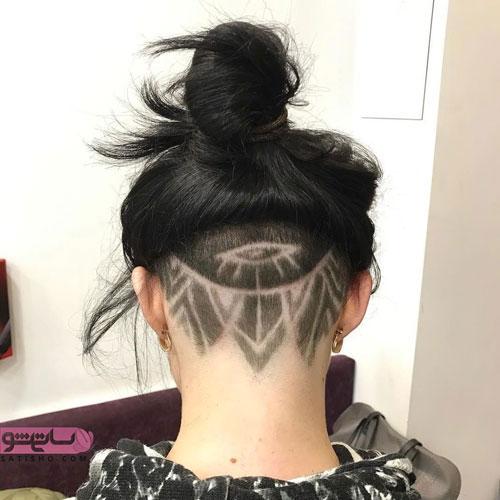 مدل مو بلند با آندرکات زاویه دار در پشت سر