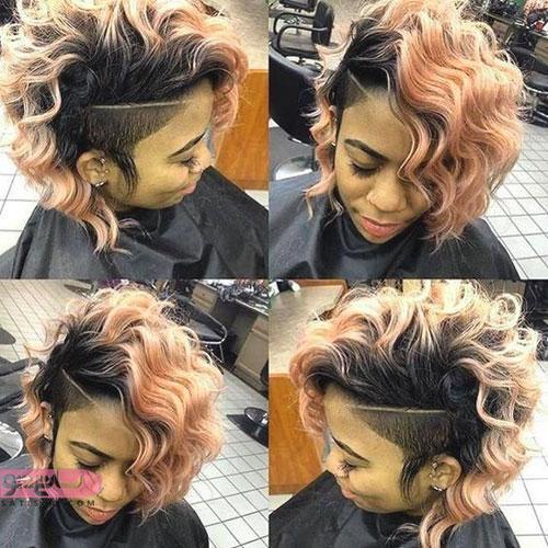 سبک جدید آندرکات تک خطی موی رنگی دخترانه