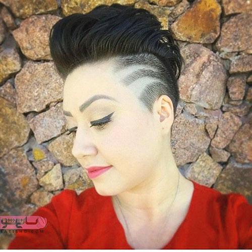 مدل موی برش بی نظم برای موی کوتاه
