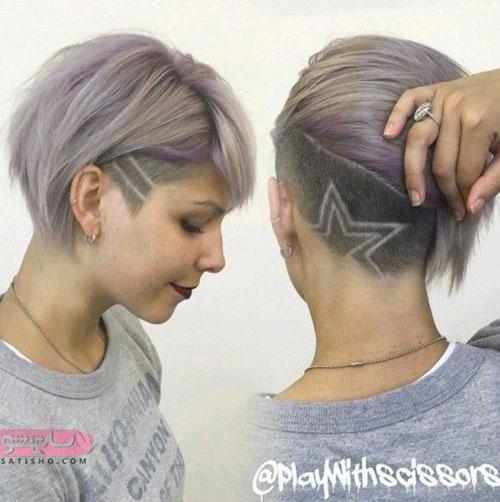نمونه آندرکات موی کوتاه زنانه