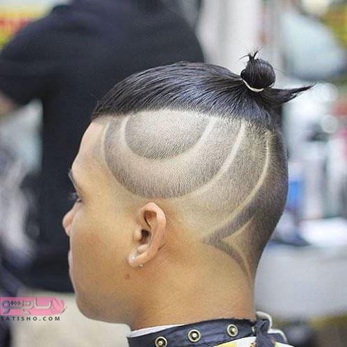 تراش زیبای مدل موی بسته در پشت سر