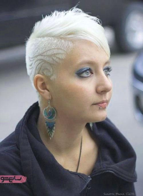 مدل فشن آندرکات موی برفی رنگ دخترانه