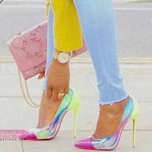 مدل های جدید کیف و کفش رنگ سال