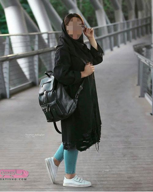 مدل مانتو دانشجویی بلند برای پاییز