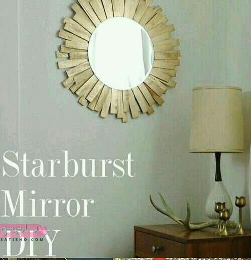 ایده های بسیار زیبا و شیک برای تزیین آینه با وسایل ساده