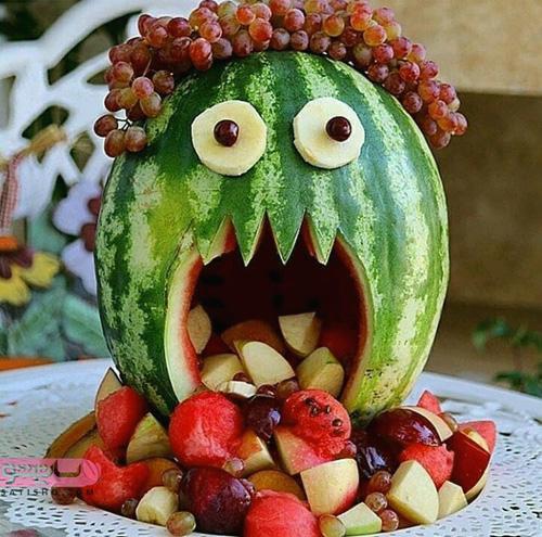 میوه آرایی شیک با هندوانه