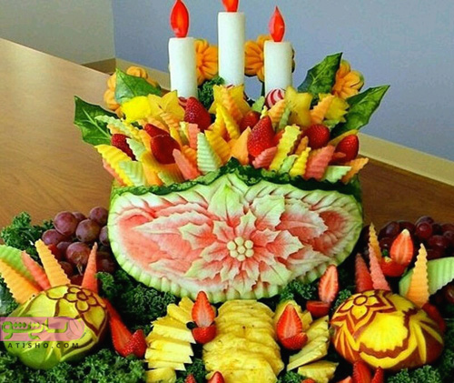 تزیین میوه های مختلف مناسب شب یلدا