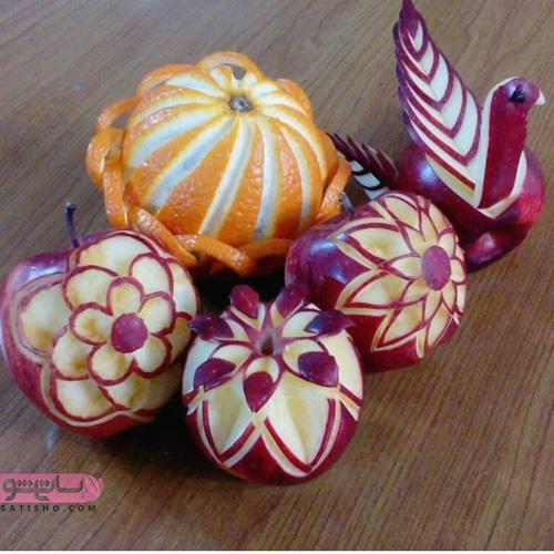 مدل های تزیین مختلف با سیب