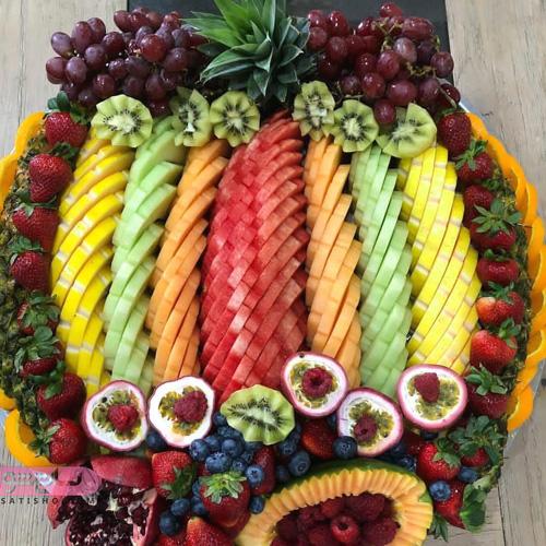 میوه آرایی بسیار شیک و زیبا برای مهمانی
