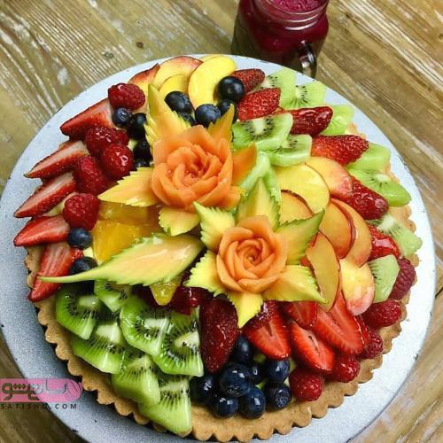 مدل میوه آرایی با توت فرنگی