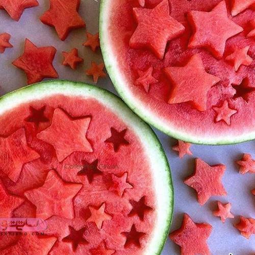 برش های زیبا هندوانه برای میوه آرایی
