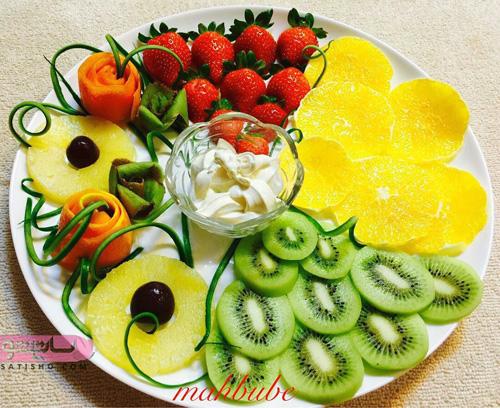 میوه های ورق شده برای تزیین