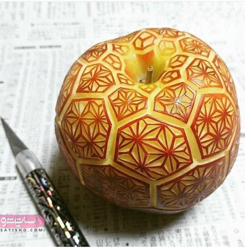 طراحی و میوه آرایی سیب