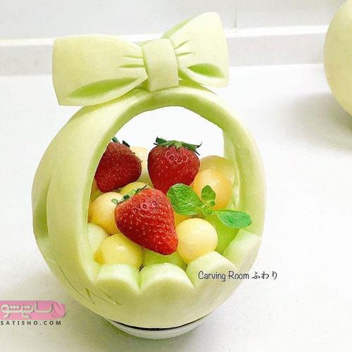 میوه آرایی به شکل پاپیون